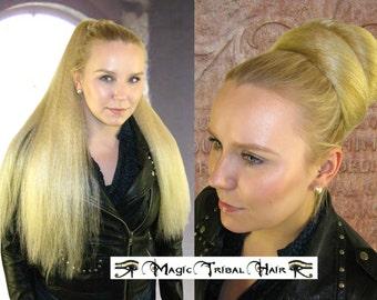 GOTH HAIR FALL Fantasy fairy hair piece Larp hair extension size M 22''/ 55 cm Gothic Lolita ponytail Cosplay wig Woodland fairy hair braid