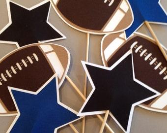 Football themed centerpiece picks