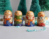 SALE 50% OFF! Wood Handpainted Russian Dolls - Collection