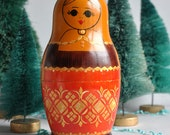 Large Inlay Matryoshka Nesting Dolls - Set of 10