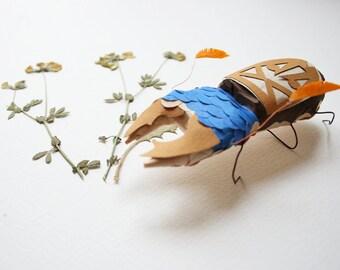 Leisure Bug (Free time) _ framed paper sculpture