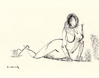Gesture study 964 Original drawing  10.5 x 7.5 inches