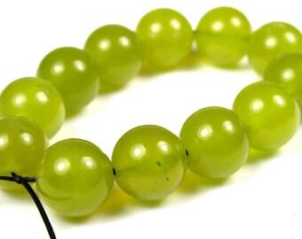 Translucent Korean Jade Round Beads - 10mm - 12 Pieces - B2851