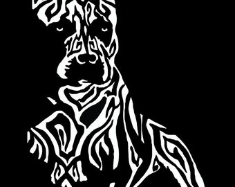 Tribal Pit Bull Vinyl Decal - Pit Bull Decal