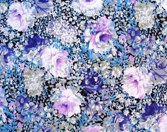 C2019 - 1 meter  Cotton Fabric - beautiful flowers (145cm width)