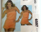 Uncut Vintage 1970s Romper Playsuit Sewing Pattern Bust 36-38 McCall's 6597