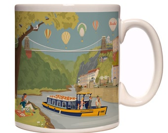 Bristol Mug: Avon Gorge and Ferry Boat