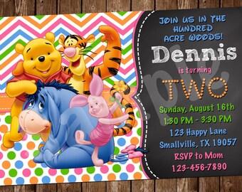 Winnie the Pooh invitation (WP01)