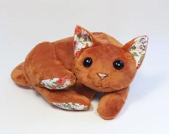 Orange Plush Cat Toy