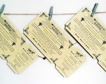 Vintage Ticket Invitation - Horse Racing Ticket Invitation - Vintage Ticket Save the Date - Ticket Birthday Invitation - INVITATION SAMPLE