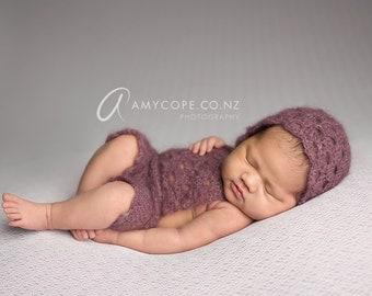 PDF Crochet Patterns - newborn photography prop Lily lace jumpsuit_romper SET #119