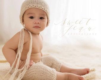 PDF Knitting Pattern - Sitter set photography prop_6-12 months_classic pant SET #1S