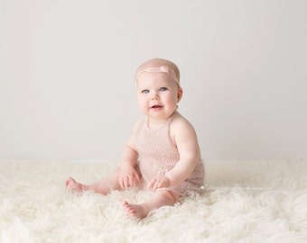 PDF Knitting Pattern - Sitter photography prop_6-9 months_classic overalls #2S