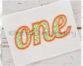 """Applique Word """"One"""" Machine Embroidery Design - 3 Sizes"""