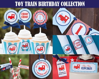 Train Party Decorations, Train Printable Decorations, Personalized Decorations, DIY Printable PDF Files