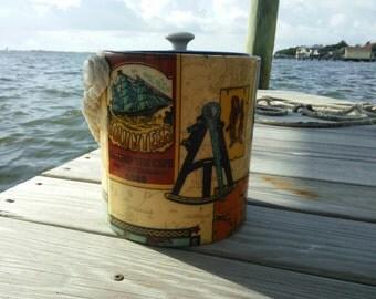 Vintage Nautical Ice Bucket, Barware