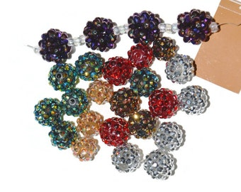 Lot of colorful discount beads rhinestone covered plastic beads Inspiration  Beads Craft Supplies Jewelry Supplies
