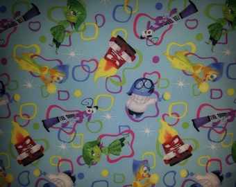 Disney Pixar INSIDE OUT 2015 Movie Personalized Cotton & Fleece BLANKET Handmade