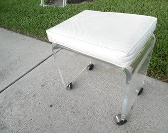 Items Similar To Vintage Lucite Vanity Stool New Price