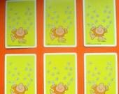 Vintage Playing Cards Ziggy Tom Wilson Daisies Yellow Mixed Media Card Making Scrapbooking Assemblage Retro Kitsch 70s Paper Ephemera