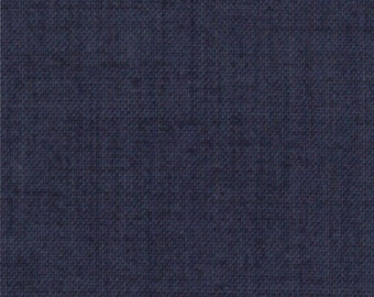 FRENCH GENERAL FAVORITES Moda by the half yard cotton quilt fabric Indigo Blue solid like 13529-87
