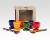 Vintage Egg Cups - Set of 6 eggcups - Plastic - Mid Century - West Germany