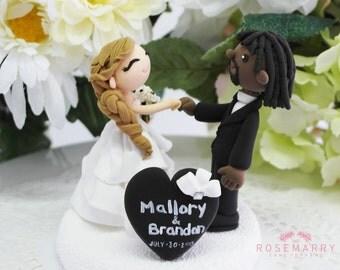 Custom Wedding Cake Topper- Lets Fist Bump!