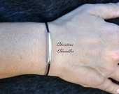 Leather Bracelet with Sterling Silver - One Strand Accent Bracelet for Women or Men- Leather Jewelry Collection