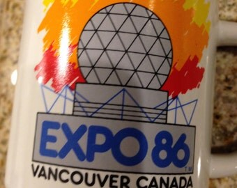 Expo 86 mug  coffee cup Herbal tea KITSCHY vancouver canada