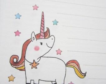 letter paper / Starry Unicorn