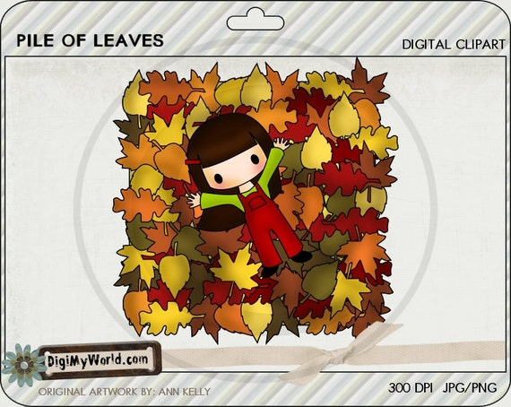 Fall Pile of leaves autumn fall angel clipart images