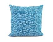 "SALE: Turquoise Herringbone Pillow Cover. Euro Pillow. Long Lumbar. Tribal print pillow.  Extra long lumbar pillow. 30"" lumbar pillow"