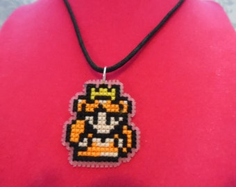 Princess Zelda (Oracles Games) Cross Stitched Necklace/Pin/Tie Tack/Magnet