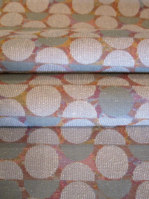 Retro Modern Nubby Textured Upholstery Fabric Remnant
