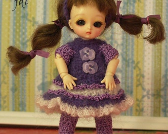 """Pansy Snuggle for Honee-B or PukiPuki 4.5"""" BJD by JDL Doll Clothes"""