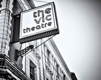 The Vic Theater Lakeview - B&W, Chicago -photograph 8x10