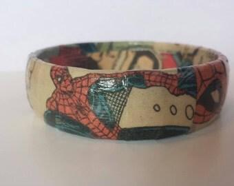 Spider-Man Comic Book Bracelet
