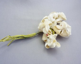Vintage Silk Flower Pin Corsage