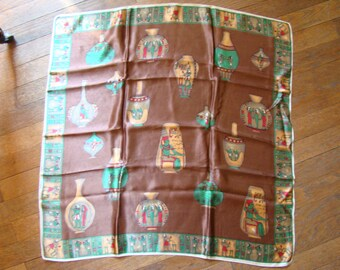 Vintage Silk Scarf - Egypt