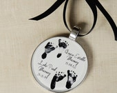 Baby Footprint Ornament - Child's Footprint Ornament - Baby's 1st Christmas Ornament - Infant Loss - Twins Ornament - First Christmas