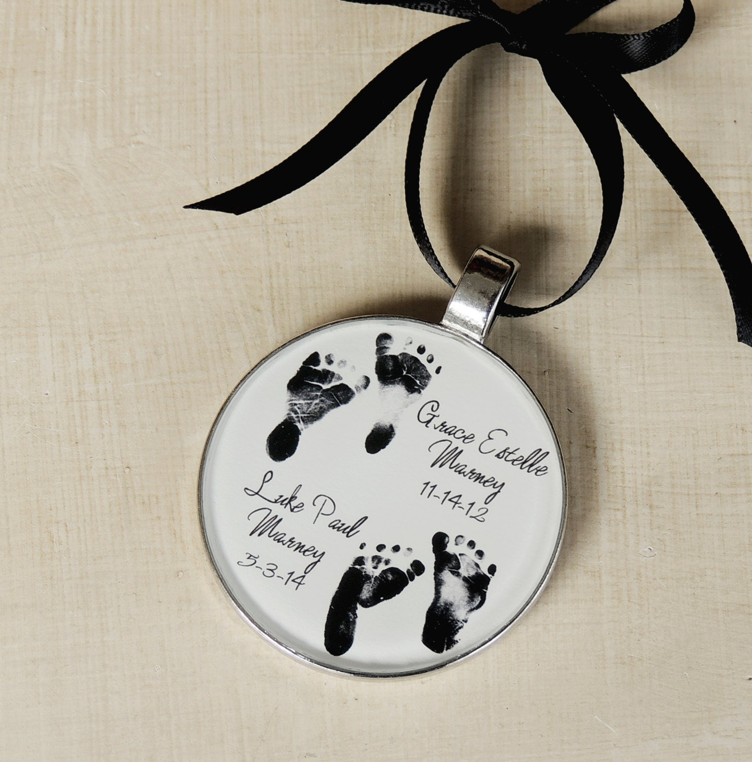 Pet memorial christmas ornaments - Baby Footprint Ornament Child S Footprint Ornament Baby S 1st Christmas Ornament Infant Loss