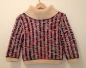RESERVE FOR EMILY- Handmade Cropped Cowl Neck Sweater