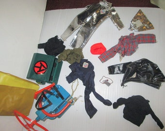 Vintage Lot Action Jackson Accessories and Clothing Mego
