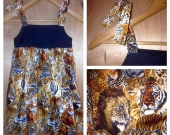 Lions and Tigers Sundress, size 4t