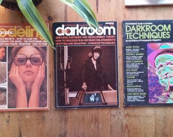 Vintage (3) Petersen's Photography Magazines, 1970's