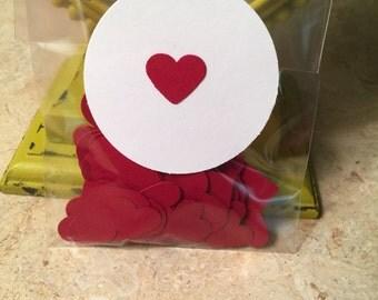 Red Heart Confetti