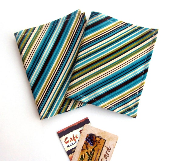 Wallet Credit Card Holder Organizer with 12 Slots Cotton Fabric Women Ladies Business Card Book Receipts Coupons Eva Clements BananaBunch