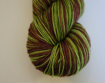 Shaggy in Toula Sock, Self Striping, 80/20 SW Merino and Nylon,  Fingering Sock Weight