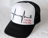 Run For Your Life trucker hat - black hat
