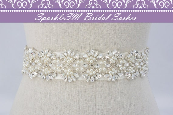 Crystal Bridal Sash, Beaded Bridal Belt, Wedding Dress Sash, Jeweled Bridal Sash, Bridal Sash Bridal Belt Bridesmaids Sash Pearl Bridal Belt